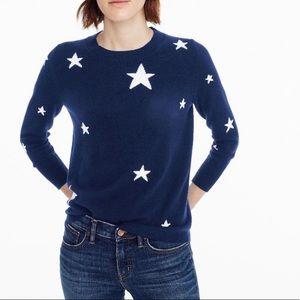 J Crew Kaleidoscope Star Print Sweater Sz XS